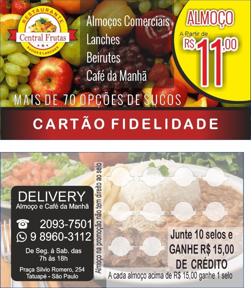 Peça já o seu Cartão Fidelidade Central Frutas!!